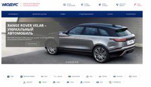Скриншот сайта Модус
